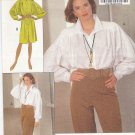 Butterick Sewing Pattern 5141 Misses Sizes 6-10 Button Front Shirt Dress High Waist Pants