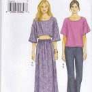 Vogue Sewing Pattern 8984 V8984 Misses Size 16-24 Easy Knit Pullover Tops Long Skirt Pants