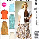 McCalls Sewing Pattern 6970 M6970 Womens Plus Size 26W-32W Easy Top Skirt Pants Shorts Shirt