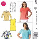 McCalls Sewing Pattern 6927 Womens Plus Size 18W-24W Easy Classic Tops Sleeve Options
