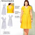Simplicity Sewing Pattern 1354 Womens Plus Sizes 20W-28W Dress Back & Cup Options