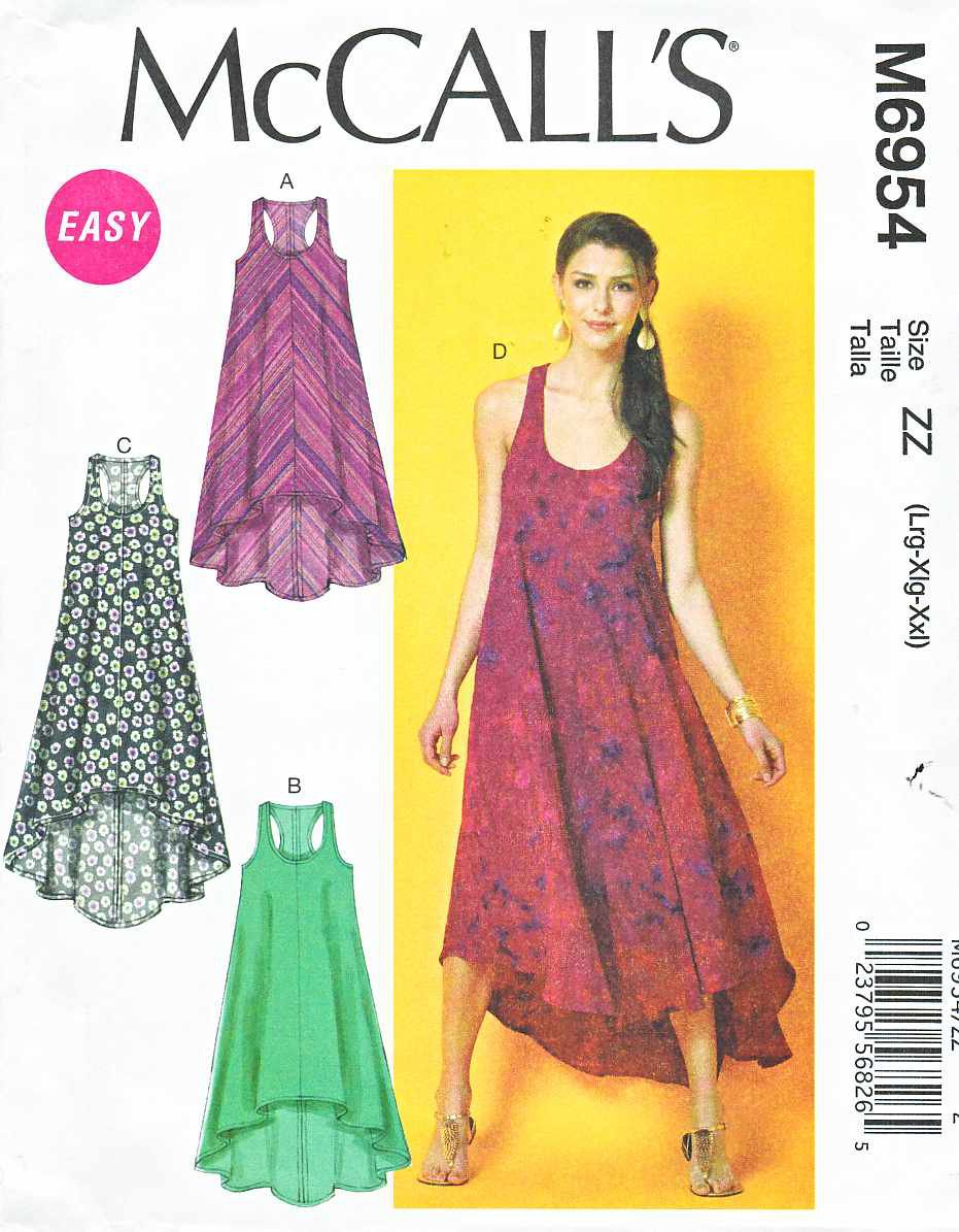 mccalls sewing pattern 6954 misses size 1626 easy