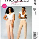 McCalls Sewing Pattern 6901 Misses 8-16 Womens Plus Size 18W-24W Easy Semi-Fitted Pants