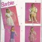 Simplicity Sewing Pattern 7430 Girls Sizes 3-8 Barbie Dress-up Clothes Costumes