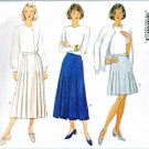 Butterick Sewing Pattern 4212 Misses Size 6-10 Easy A-Line Front Pleated Skirts