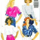 Butterick Sewing Pattern 3712 Misses Size 6-10 Easy Loose-Fitting Pullover Tops Sleeve Options