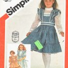 Simplicity Sewing Pattern 5862 Girls Sizes 4 Gunne Sax Ruffled Dress Length Sleeve Options