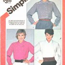 Simplicity Sewing Pattern 6159 Misses Sizes 10-14 Button Front Long Sleeve Blouses