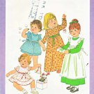 Simplicity Sewing Pattern 8279 Toddler Girls Size 2 Dress Pinafore Sleeve Length Options