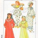 Simplicity Sewing Pattern 8942 Girls Size 8-10 Nightgown Robe Pajamas Hat Nightcap