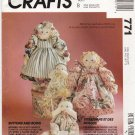 McCall's Sewing Pattern 771 6099 Buttons and Bows Mother Baby Soft Sculpture Dolls