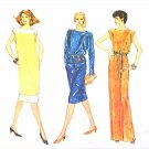 Vogue Sewing Pattern 8202 Misses Size 6-10 Pullover Top Skirt Dress Tunic Bateau Neckline