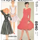 McCall's Sewing Pattern 8540 Misses Size 10 Knit Full Gathered Skirt Dress Sleeve Length Options