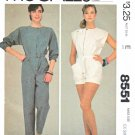 McCall's Sewing Pattern 8551 Misses Size 6-8 Jumpsuit Romper Belt Sleeve Length Options