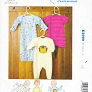 Kwik Sew Sewing Pattern 3090 Baby Size 8-26# Baby Gown Sleeper Sleeve Leg Length Options