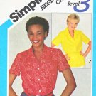 Simplicity Sewing Pattern 5344 Misses Sizes 10 Button Front Short Sleeve Shirt