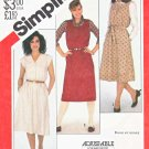 Simplicity Sewing Pattern 5610 Misses Sizes 10-14 Cap Sleeve Sleeveless Dress Jumper