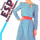 Simplicity Sewing Pattern 5765 Misses Sizes 10-14 Pullover Long Sleeve A-Line Skirt Dress