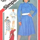 Simplicity Sewing Pattern 5800 Misses Size 10 Long Short Sleeve Loose-fitting Dress