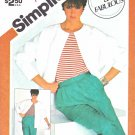 Simplicity Sewing Pattern 5837 Misses Size 12 Unlined Dolman Sleeve Jacket Pants