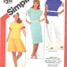Simplicity Sewing Pattern 5923 Misses Size 10-14 Knit Short Sleeve Pullover Top Dress