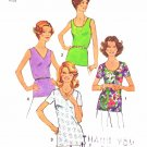 Simplicity Sewing Pattern 7911 Misses Size 14 Classic Pullover Tops Neck Sleeve Options