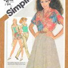 Simplicity Sewing Pattern 9904 Misses Size 12 Summer Wardrobe Skirt Pants Shorts Top Shirt
