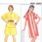 Butterick Sewing Pattern 4443 Misses Size 6-8-10 Easy Pullover Dress Tunic Culottes