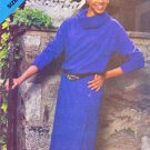 Butterick Sewing Pattern 5220 Misses Size 8-12 Long Sleeve Side Button Dress