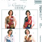 McCalls Sewing Pattern 7804 Misses Size 12-14 Creative Button Front Lined Vest