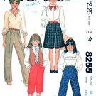 McCalls Sewing Pattern 8255 Girls Size 10 Pants Long Short Knickers Culottes