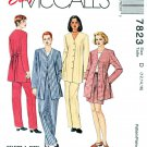 McCalls Sewing Pattern 7823 Misses Size 12-16 Top Unlined Jacket Pants Shorts