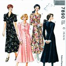 McCalls Sewing Pattern 7890 Misses Size 10-14 Button Front Long Short Sleeve Dress