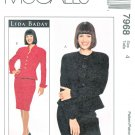 McCalls Sewing Pattern 7968 Misses Size 4 Lida Baday Lined Jacket Skirt Suit