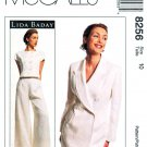 McCalls Sewing Pattern 8256 Misses Size 10 Lida Baday Pantsuit Lined Pants Jacket Top