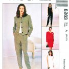 McCalls Sewing Pattern 8263 Misses Size 6-10 Easy Wardrobe Jacket Dress Top Pants Skirt