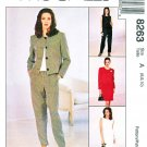 McCalls Sewing Pattern 8263 Misses Size 8-12 Easy Wardrobe Jacket Dress Top Pants Skirt