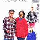 McCalls Sewing Pattern 8362 Misses Men's Unisex Size XL-XXL Pullover Long Sleeve Jacket Tops