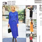 McCalls Sewing Pattern 8457 Misses Size 10-14 Dress Mock Vest Sleeve Options