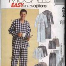 "McCall's Sewing Pattern 4244 Mens Size XL-XXL 46-52"" Easy Classic Pajamas Robe Pants Tops Shorts"