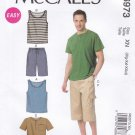 "McCalls Sewing Pattern 6973 Men's Size S-L 34-44"" Easy Knit Tank Tops T-shirts Shorts"