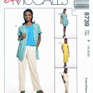 McCalls Sewing Pattern 8739 Misses Size 16-20 Easy Wardrobe Pants Shorts Dress Top