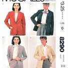 McCalls Sewing Pattern 8290 Misses Size 14 Palmer & Pletsch Ultrasuede Blazer Jacket