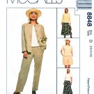 McCalls Sewing Pattern 8848 Misses Size 12-16 Classics Wardrobe Skirt Jacket Pants Shorts Top