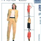 McCalls Sewing Pattern 8907 Misses Size 14-18 Wardrobe Jacket Dress Pants Skirt