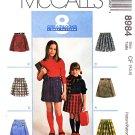 McCall's Sewing Pattern 8984 Girls Size 4-6 Easy Skorts Culottes Split Skirt Tie Belt