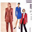 McCalls Sewing Pattern 8987 M8987 Misses Size 14-18 Lined Button Front Jacket Pants Straight Skirt