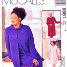 McCalls Sewing Pattern 9081 Misses Size 14 Palmer/Pletsch Long Sleeve Dress