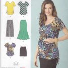 Simplicity Sewing Pattern 1359 Maternity Misses Size 6-24 Easy Knit Wardrobe Tops Skirts Gauchos