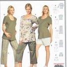Burda Sewing Pattern 8376 Maternity Misses Size 8-20 Easy Wardrobe Tops Pants Shorts